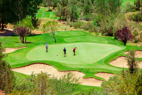 Golfers at Seven Canyons