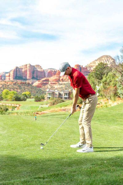 Golfer at Seven Canyons